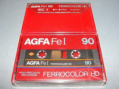 Audio Cassette Agfa Ferrocolor Hd 90' ..10 Pcs New Sealed