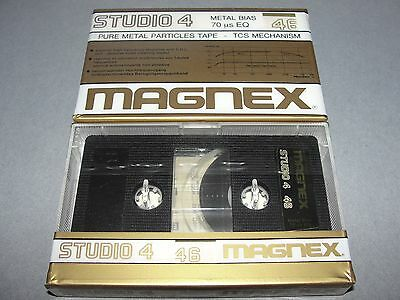 Audio Cassette Magnex 46' Studio 4 Metal .. 10 Pcs New Sealed