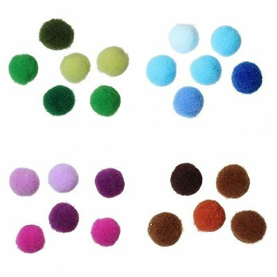 "100 x 10mm ""On Trend"" Pom Pom Balls in 4 Mixed Colour Shades - 10mm - lady-muck1"