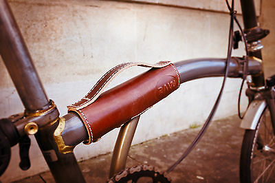 Brompton Carry Handle made from High Quality Saddle Leather