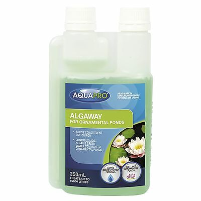 Aquapro ALGAWAY ALGAE & GREEN WATER SOLUTION FORMULA for Ornamental Ponds 250ml