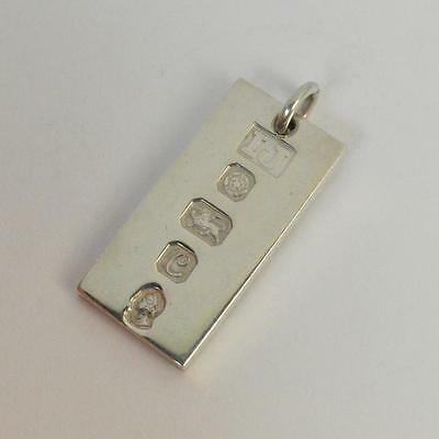 1/2oz Sterling Silver 1977 Silver Jubilee Ingot Pendant Investment Piece
