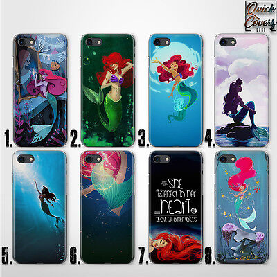 Ariel Mermaid Disney Character Thin Uv Case Cover For Iphone
