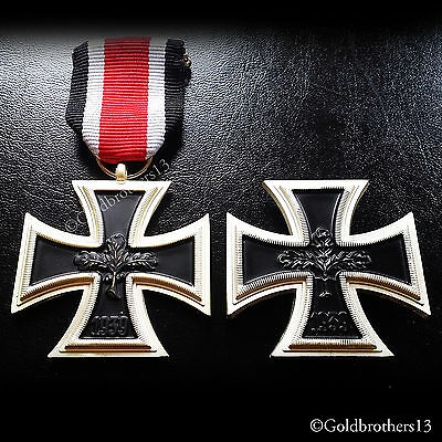 WW2 German Medals Iron Cross 2nd Class 1939 + Military Badge 1939 Repro