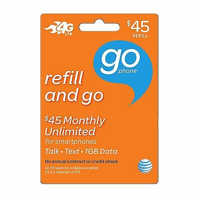 AT&T Go Phone $45 Refill