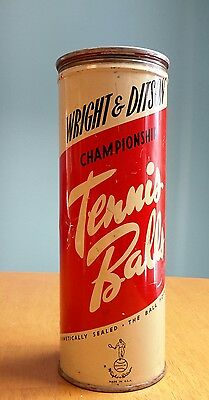 Vintage Wright & Ditson Championship Tennis Balls  Can