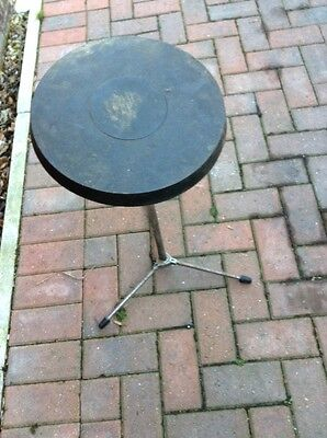 "Free P&P. 11"" Premier Practice Pad on Adjustable Stand. for Drum Kit."