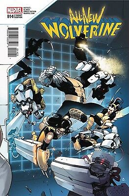 All New Wolverine #14 Bengal Connecting Variant Marvel 2016