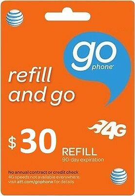 AT&T Go Phone $30 Refill