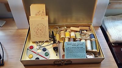 VTG Rapaport Brothers Modern America Woodburning Plaques Kit in box