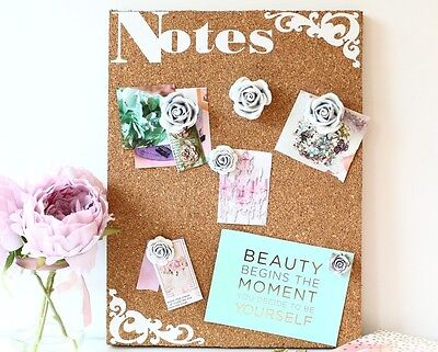 Shabby Chic Pin/notice/cork board memo message GIFT for her Mothers day birthday