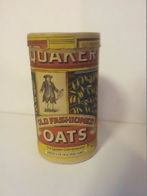 Antique Vintage Quaker Oats Cardboard Canister Container With Lid