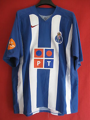 Maillot Porto PT vintage domicile soccer 2005 Nike BE Football - XL