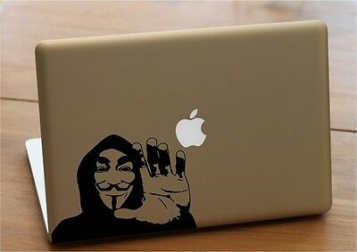 Mac Macbook laptop vinyl decal sticker anonymous 3
