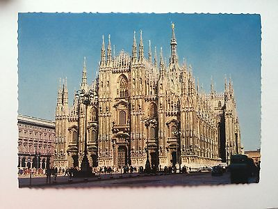 Milano Italy II Duomo The Cathedral Vintage Postcard