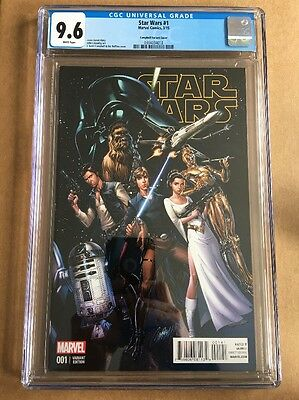 STAR WARS #1 (2015) CGC 9.6 (NM+) J SCOTT CAMPBELL 1:50 Variant