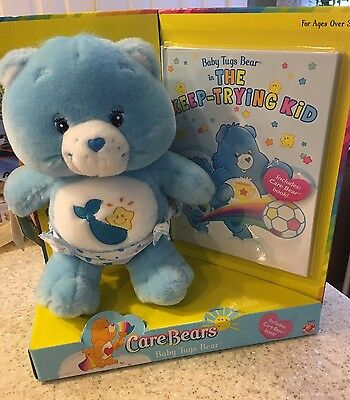 Care Bears Baby Tugs Bear Rare Set With Book New In Package