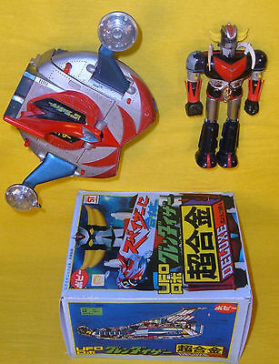 GRENDIZER METAL GOLDRAKE & SPAZER Dx GA37 POPY JAPAN reproBOX'70 Goldorak MATTEL