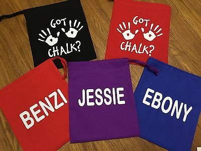 Personalised Gymnastics Hand guard Chalk Grip Bag Pouch Kit DOUBLE-SIDED PRINT