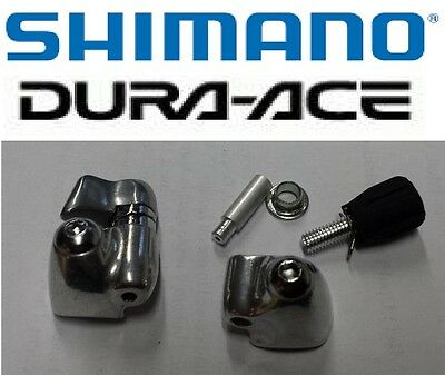 Shimano Pr of Road Bike Downtube Boss Covers With Gear Cable Adjusters Alloy New