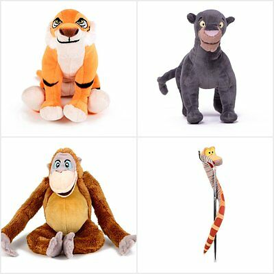 "Disney Jungle Book Soft Plush 8"" Bagheera King Louie Kaa Shere Kan Balo"