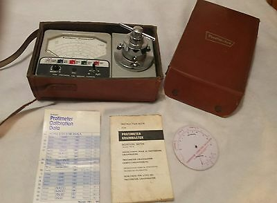 Rare Vintage Grainmaster Protimeter in Leather carry case