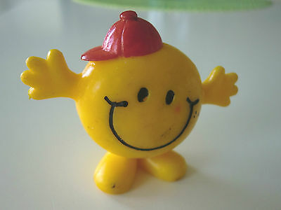 Vintage 1971 ARBY'S Restaurant PVC Smiley Face Toy Figure Advertising