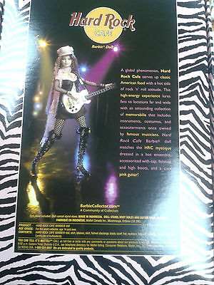 Hard Rock Cafe 2004 HRC #2 Barbie Doll Rockstar Guitar Tattoo vintage GIFT HRC