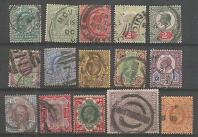 Great Britain 1902 used Stamps