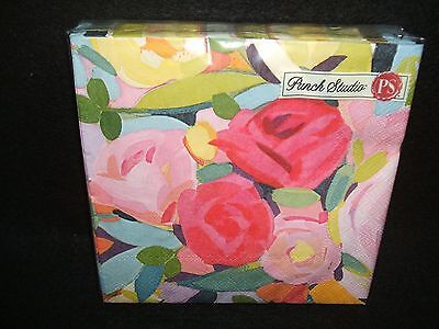 Floralie Floral paper luncheon napkins Punch Studio USE FOR DECOUPAGE