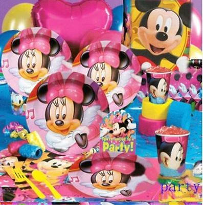 DELUXE Minnie Mouse Birthday Party Supplies Set for 12 (SUPER DEAL - MANY ITEMS)