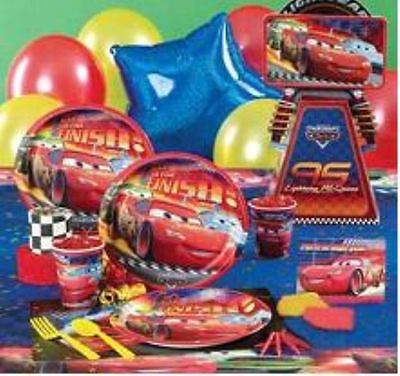 DELUXE Cars Birthday Party Supplies Set for 12 (SUPER DEAL - MANY ITEMS)