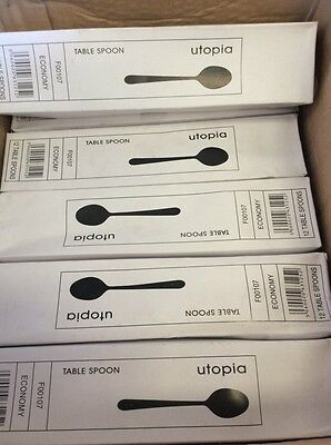 48 x Utopia Table Spoons Tablespoons Catering Spoon Cafe Restaurant Home Cutlery
