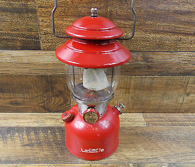 Vintage Coleman 200A Red Single Mantle Lantern Dated 10/63 Sunshine Of The Night