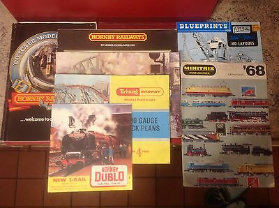 Hornby / Triang / Atlas / Minitrix  Model Train Catalogues Various Years