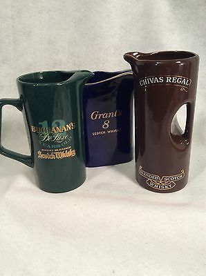 3 WHISKY Pitchers CHIVAS REGAL,BUCHANAN'S,GRANT'S