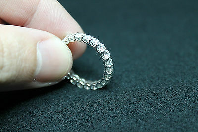 18Ct White Gold Ring With Diamonds - 2,04 Kts!!! Quality F - Vvs1