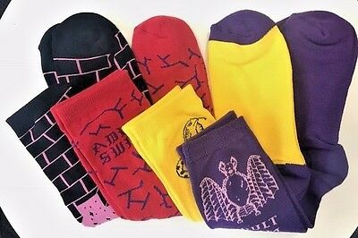 [adult swim] Exclusive x4 Four Pair - Sock Pack (Purple Yellow Red Black) Unisex