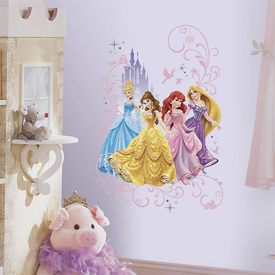 """Disney Princess Wall Graphix Peel and Stick Giant Wall Decals, 24"""" x 36"""""""