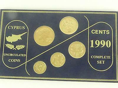 (ref165OF) Cyprus 1990 Coin Set