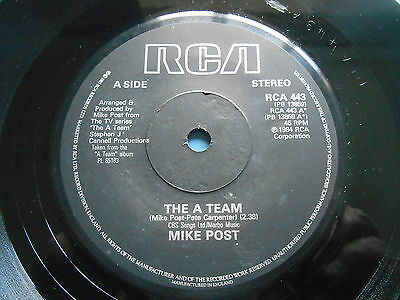 """Mike Post The A Team 7"""" Single Uk Ex- *uk P+P 4 For £2*"""