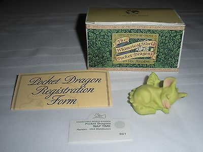 "Whimsical World of Pocket Dragon's ""Nap Time"" 1993 w/Box by Real Musgrave"