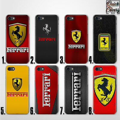 FERRARI THIN UV CASE COVER FOR iPHONE 4 5/5s/se 6/6s plus 7