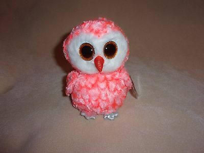 """Ty Mwmt Cora The Owl Beanie Boo- 6"""" Beanie Boos- Justice Exclusive- Adorable!"""