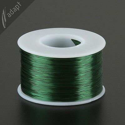 Magnet Wire, Enameled Copper, Green, 28 AWG (gauge), HPN, 155C, ~1/2 lb 1000 ft
