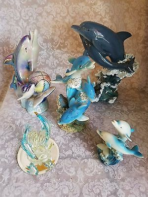 Lot of 6 Dolphin Figurines