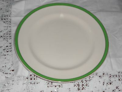Queens Green Art Deco Solian Ware Soho Pottery Dinner Plate 10inches/25.5cm