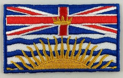 British Columbia BC Flag Patch Embroidered Iron On Applique