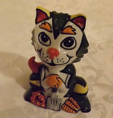 Lorna Bailey Cat DIGGER Limited Edition 68/75 Signed in Blue
