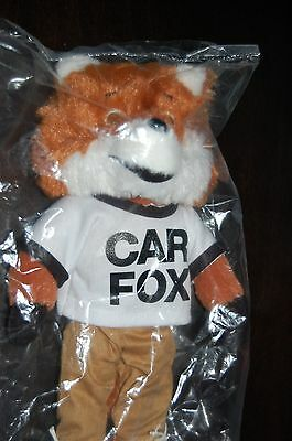 """SHOW ME THE CARFAX FOX 9""""PLUSH CAR FAX DOLL ADvERTISING STUFFED TOY NEW IN BAG"""